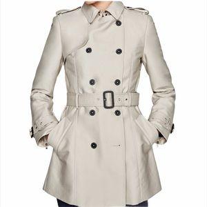 Zara Cream Nude Knee Length Trench Coat